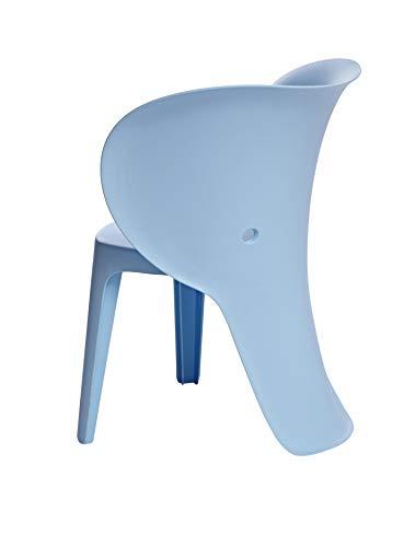 AmazonBasics, Blue Premium Plastic Kids Chairs, Elephant, 2-Pack