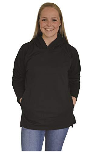 Green Cat Kapuzensweatshirt Unisex, Bio-Baumwolle und Oeko-TEX Zertifiziert, Textilfarbe: schwarz, Gr.: L