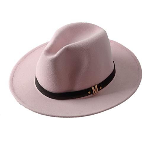 CHENGWJ Fedoras Cap Hommes Chapeau De Fedora des Femmes De La Laine De Mode pour Laday Wide Brim Jazz Chapeau D'Église Panama Sun Hat Haut Forme