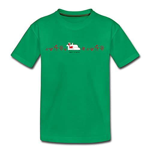 Spreadshirt NINA and Other Little Things Leseecke In Natur Teenager Premium T-Shirt, 158-164, Kelly Green