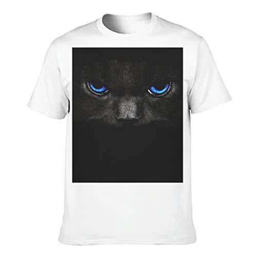 Drachenkatze Stil Herren Baumwoll T-Shirt Lustig Modern Geschnitten T-Shirt White 5XL