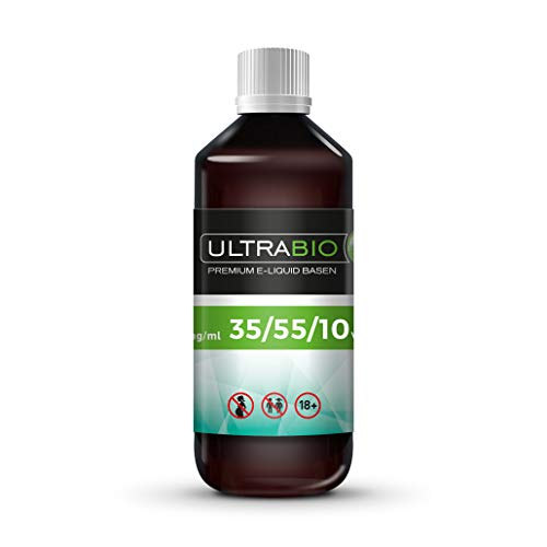 Ultrabio® Deutsche Liquid Basen 1000ml 55/35/10 (55% PG / 35% VG / 10% H²O) e liquid Base ohne Nikotin