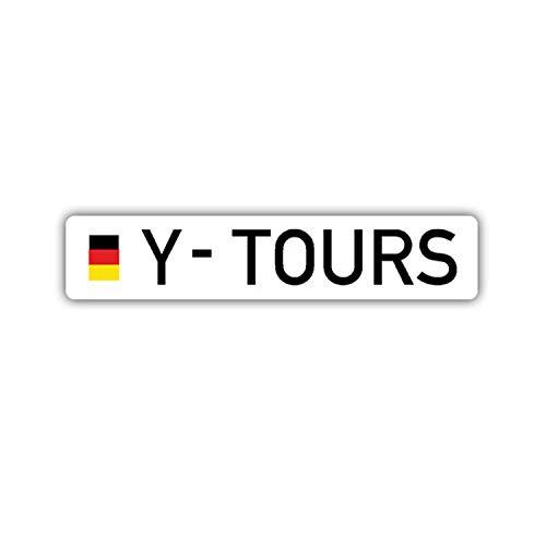 Aufkleber/Sticker Y Tours Bundeswehr Kennzeichen Reservist 10x2cm A1656
