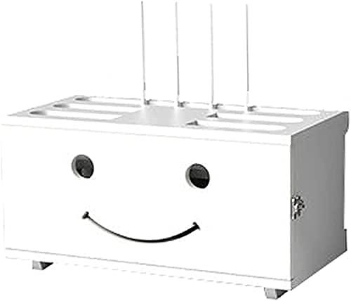 JXYQ Estante Flotante Caja de Almacenamiento de enrutador WiFi Estante de enrutador montado en la Pared Caja de administración de Cables de Madera Maciza Cajas de Escritorio para Oculta
