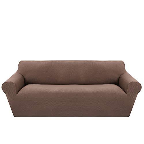 KTUCN Fundas de sofá, Modernas Fundas de sofá de Jacquard para Sala de Estar, sillón, Fundas de sofá seccionales, sofá elástico elástico, Envoltura Ajustada, marrón, A-B 235-300cm