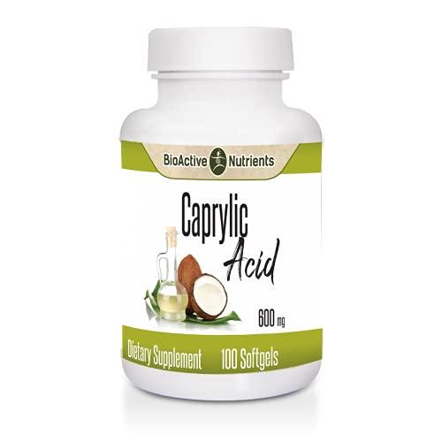BioActive Nutrients - Caprylic Acid - 600mg - 100 Softgels -...