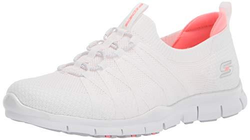Skechers Gratis-Chic Newness, Zapatillas Mujer, Multicolor (Wht Black Stretch Fit Knit), 39 EU