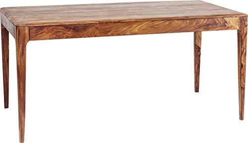 Kare Design Tisch Brooklyn Nature, Esszimmertisch aus Massivem Sheesham-Holz, Hellbraun gebeizter Esstisch, Holztisch, Küchentisch (H/B/T) 76x160x80cm