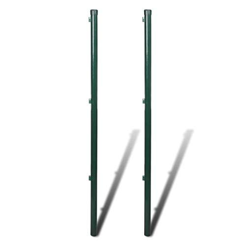 vidaXL 2x Zaunpfosten 150 cm Zaunstrebe Zaunpfahl Pfosten für Maschendrahtzaun