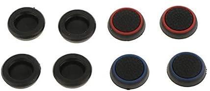コントローラー交換用アナログスティックカバー4色8個 耐久性