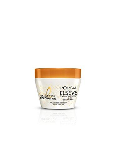L'Oréal Paris Elsève Huile Extraordinaire Coco Masque Usage Universel Nutrition Intense Cheveux Normaux à Secs 300 ml - Lot de 2