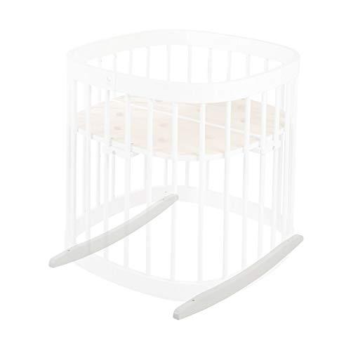 tweeto Babybett Wippe Wiegekufen- weiß - Schaukel Schaukelfunktion Bettschaukel Baby Einschlafhilfe