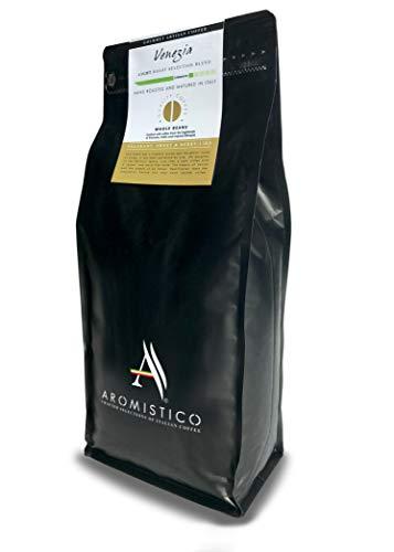 AROMISTICO | Intense Crema Blonde Light Roast | 1 Kg Premium Italian Coffee Beans | Venezia Blend | for Espresso, Moka, Cafetiere French Press, Drip, Aeropress | Fragrant, Sweet & Berry-Like (1Kg)