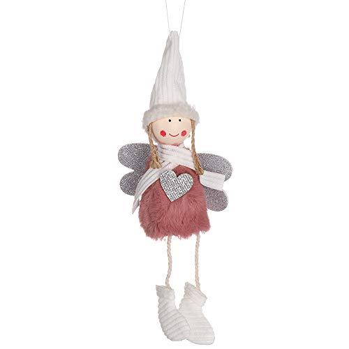 Xuntung Festival Favor Hängende Anhänger Home Dekor Angebot der Parteien Dekoration von Weihnachten Plüsch Doll Verzierungen fallen lassen Angel Toy(pink)