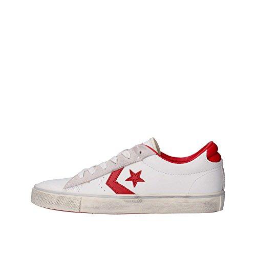 Converse Herren Pro Leather Vulc Ox Sneakers, Weiß (White/Tango Red/Turtledove), 40 EU