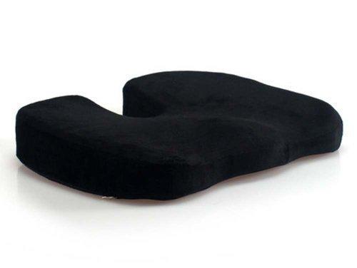 Everlasting Comfort Sitzkissen für Bürostuhl, Kissen – Ischias-Kissen für Auto, Rollstuhl, Computer und Schreibtischstühle (schwarz)