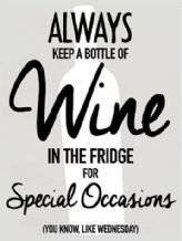 Decorative Wall Art Always keep a Bottle off Wine In The Fridge - Sign Up Met...