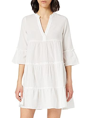 VERO MODA Damen Vmheli 3/4 Short Dress WVN Ga Noos Lässiges Kleid, Snow White, M