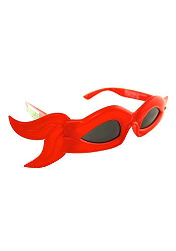Sunstaches Teenage Mutant Ninja Turtles Red Bandana Sunglasses, Party Favors, UV400