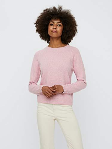 VERO MODA Damen VMDOFFY LS O-Neck Blouse GA Color Bluse, Wild Rose, L