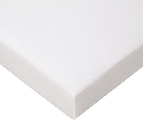 Juego de 3 sábanas bajeras de algodón, 70 x 160 cm, Color Blanco