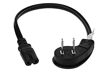 SF Cable 3ft 18 AWG 2-Slot Non-Polarized Power Cord  IEC320 C7 to NEMA 1-15P