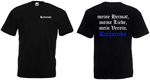 Karlsruhe Herren T-Shirt Ultras Meine Heimat Schwarz M