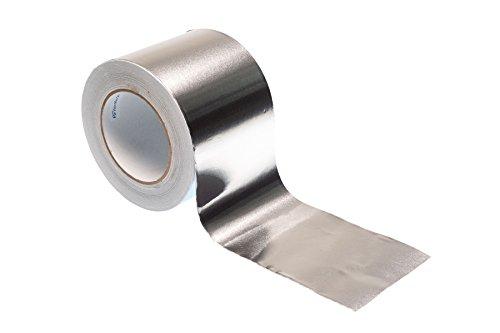 Aluminium-Klebeband, 50 m x 100 mm, hochwertiges, strapazierfähiges Klebeband von Gocableties, silber