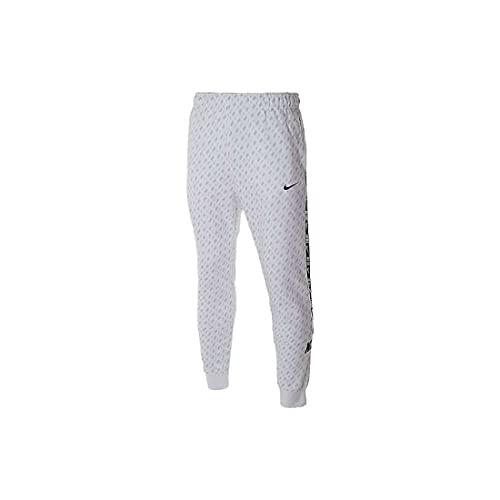 Nike Sportswear - Pantalón de chándal para hombre, color blanco, con cintura elástica Color blanco. XL