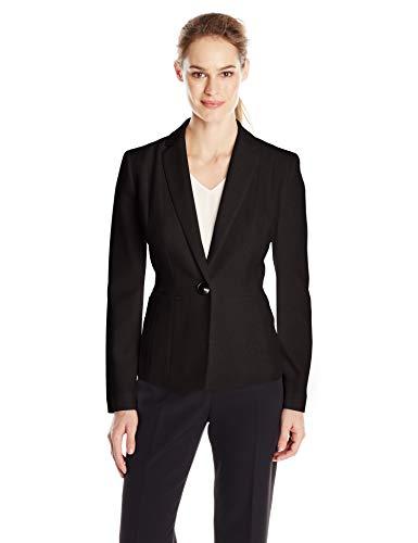 Kasper Women's Stretch Crepe One Button Jacket, Black, 12