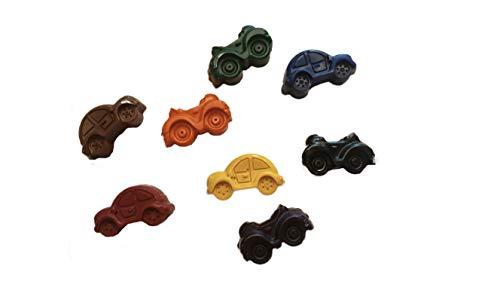 Small Car Shaped Crayons, Set of 8 Non-Toxic Crayons