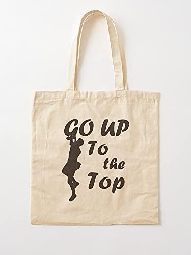 Challenger Climber Go Courageous to Up Top | Einkaufstaschen aus Segeltuch mit Griffen, Einkaufstaschen aus nachhaltiger Baumwolle
