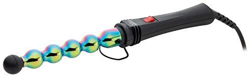 GAMMAPIU' Rizador Onduladores De Pelo Plancha Profesional Iron Bubble Rainbow, Ondas Anchas Y Estrechas, Punta Resistente Al Calor, Desenfoque De Movimiento Prolongado, Calentamiento, Enchufe Italiana