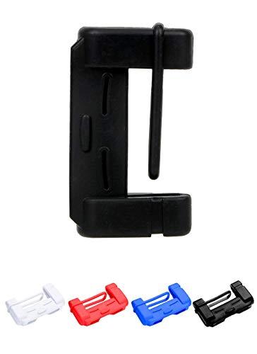 Manica Protettiva Fibbia Cintura, Accessori Interni Protezione Fibbia Cintura Silicone AntiGraffio (Nero)