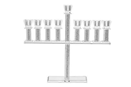 "Copa Judaica Sparkling Crystal Menorah for Chanukah – for Standard Hanukkah Candles – 12.5"" Tall x 14.5' Wide"
