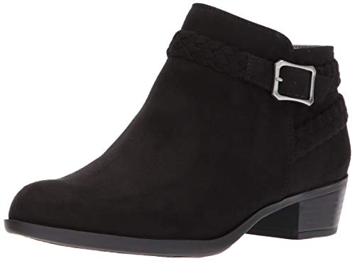 LifeStride womens Adriana Bootie Ankle Boot, Black Micro, 7.5 US
