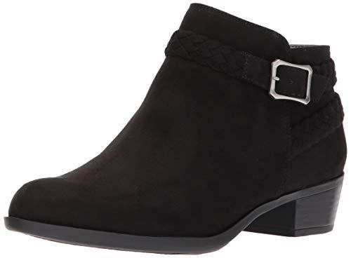 LifeStride Women's Adriana Ankle Bootie Boot, Black Micro, 8 W US