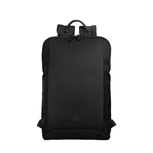 Tucano Laptop Backpack w Pocket Inside Black Mochila Neoprene,Nylon - Mochila para portátiles y netbooks (Neoprene,Nylon, Black, Monotone, Back Pocket, Cell Phone Pocket,Pouch Pocket)