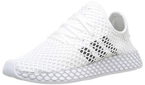 Adidas Unisex-Erwachsene Deerupt Runner J Fitnessschuhe, Weiß(ftwr white/core black/GREY TWO F17), 37 1/3 EU(4.5 UK)