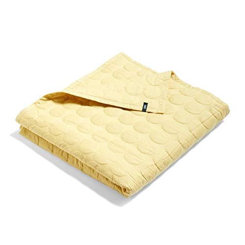 Mega Dot Decke 235x245cm, soft gelb Baumwolle Füllung Polyester LxB 245x235cm