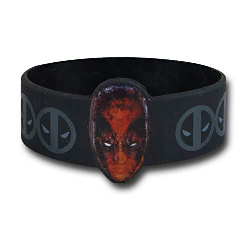 Wristband - Marvel - Deadpool Head+Logo New Toys Licensed rwb-mvl-0017