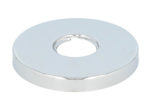 tecuro Gewinderosette (3/4) Ø 27 mm x Ø 80 mm x Höhe 10 mm, messing verchromt