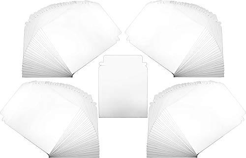 CD DVD Versandtasche aus Karton weiß Briefumschlag selbstschließende Umschläge mit Klappe 100 Stück