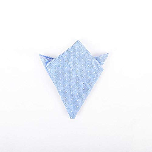 SKYyao Pocket Square Mens Pocket Towel Cotton Polka dot Blazer Handkerchief Groom Best Man Chest Towel Cotton 2424cm