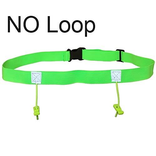 ZZYUBB Männer Frauen Marathon Startnummernband Laufen Hüfttasche Cloth Lätzchen Halter Run Tasche Mit 6 Gel Loops (Color : Green NO Loop)