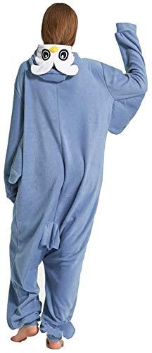 Ducomi Kigurumi Pijamas Disfraces Divertidos - Pijamas Unisex Adulto Cosplay Disfraz de Animal - Peluche Halloween y Carnaval Mujer Hombre - Pijama Tuta Unicornio, Koala, Panda (Owl, S)