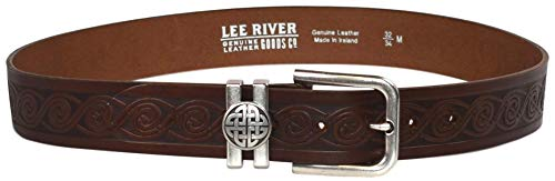 Lee River Goods Co - Men's Brown Tonn Celtic Leather Belt - L (36-38in or 91-97cm) 508122