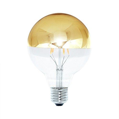 LED Filament Leuchtmittel Globe G95 4W = 40W E27 Kopfspiegel Gold 400lm extra warmweiß 2200K Retro Nostalgie
