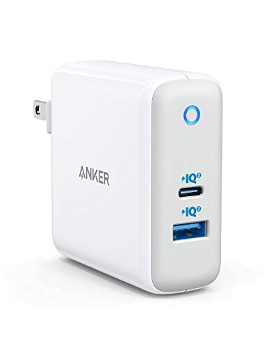 USB C Charger, Anker 60W PIQ 3.0 & GaN Tech Dual Port Charger, PowerPort Atom III (2 Ports) Travel Charger with a 45W USB C Port, for USB-C Laptops, MacBook, iPad Pro, iPhone, Galaxy, Pixel and More