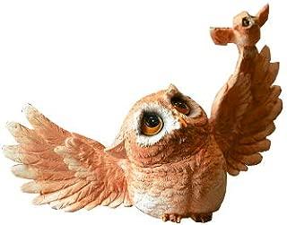 Gemmia Garden Owl Figurine- Flying Owl Fairy Statue